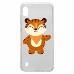 Чехол для Samsung A10 Little tiger with a smile