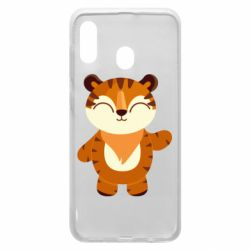 Чехол для Samsung A20 Little tiger with a smile