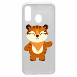 Чехол для Samsung A40 Little tiger with a smile