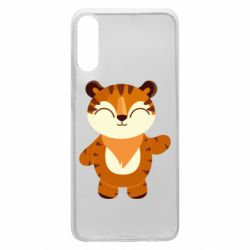 Чехол для Samsung A70 Little tiger with a smile