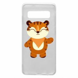 Чехол для Samsung S10 Little tiger with a smile