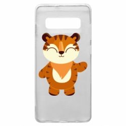 Чехол для Samsung S10+ Little tiger with a smile