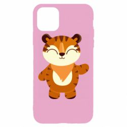 Чехол для iPhone 11 Pro Little tiger with a smile