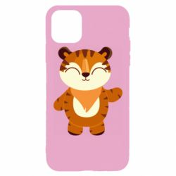 Чехол для iPhone 11 Pro Max Little tiger with a smile