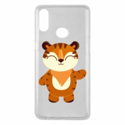 Чехол для Samsung A10s Little tiger with a smile