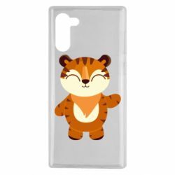 Чехол для Samsung Note 10 Little tiger with a smile