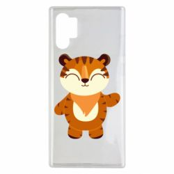 Чехол для Samsung Note 10 Plus Little tiger with a smile