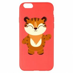 Чехол для iPhone 6 Plus/6S Plus Little tiger with a smile