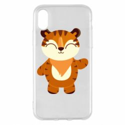 Чехол для iPhone X/Xs Little tiger with a smile
