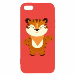 Чехол для iPhone5/5S/SE Little tiger with a smile