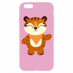 Чехол для iPhone 6/6S Little tiger with a smile