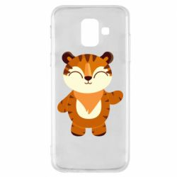 Чехол для Samsung A6 2018 Little tiger with a smile
