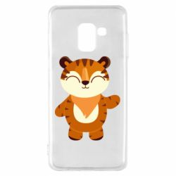 Чехол для Samsung A8 2018 Little tiger with a smile