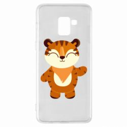 Чехол для Samsung A8+ 2018 Little tiger with a smile