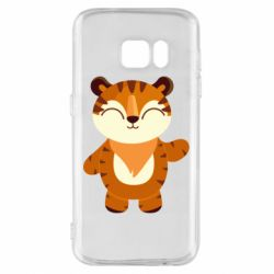 Чехол для Samsung S7 Little tiger with a smile