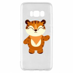 Чехол для Samsung S8 Little tiger with a smile