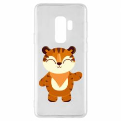 Чехол для Samsung S9+ Little tiger with a smile