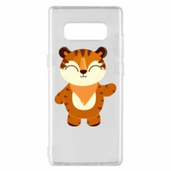 Чехол для Samsung Note 8 Little tiger with a smile