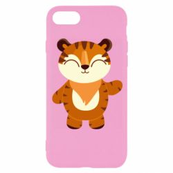 Чехол для iPhone 8 Little tiger with a smile