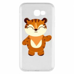 Чехол для Samsung A7 2017 Little tiger with a smile
