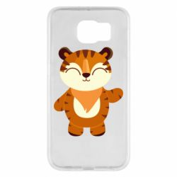 Чехол для Samsung S6 Little tiger with a smile