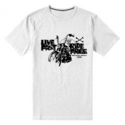 Мужская стрейчевая футболка Live fast