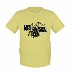 Детская футболка Live fast