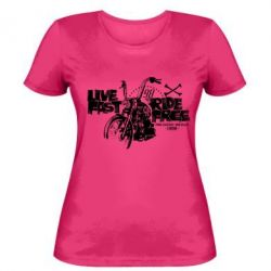 Женская футболка Live fast