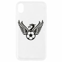 Чехол для iPhone XR Liverpool and soccer ball
