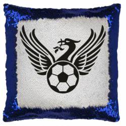 Подушка-хамелеон Liverpool and soccer ball