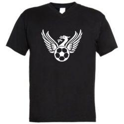 Чоловіча футболка з V-подібним вирізом Liverpool and soccer ball
