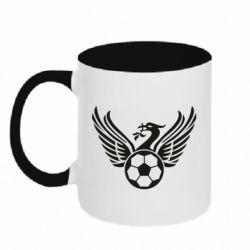 Кружка двоколірна 320ml Liverpool and soccer ball