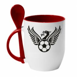 Кружка з керамічною ложкою Liverpool and soccer ball