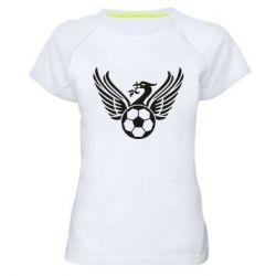 Жіноча спортивна футболка Liverpool and soccer ball