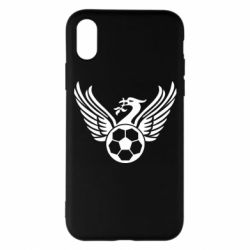 Чехол для iPhone X/Xs Liverpool and soccer ball