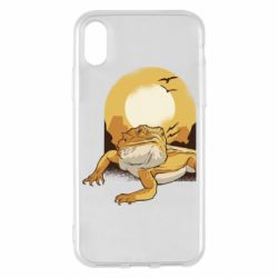 Чехол для iPhone X/Xs Lizard and desert