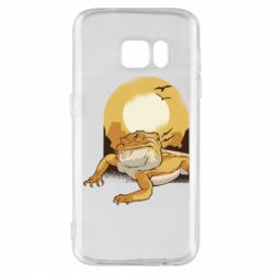 Чехол для Samsung S7 Lizard and desert