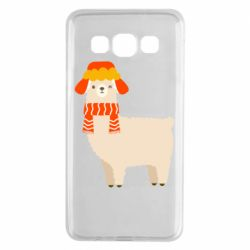 Чехол для Samsung A3 2015 Llama and winter