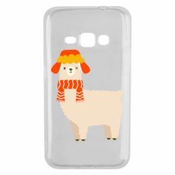 Чехол для Samsung J1 2016 Llama and winter
