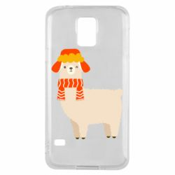 Чехол для Samsung S5 Llama and winter