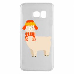 Чехол для Samsung S6 EDGE Llama and winter