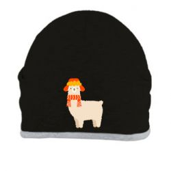 Шапка Llama and winter