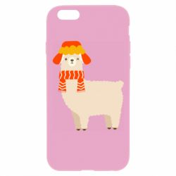 Чехол для iPhone 6 Plus/6S Plus Llama and winter