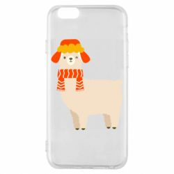Чехол для iPhone 6/6S Llama and winter