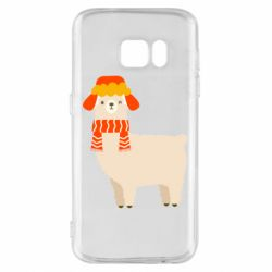 Чехол для Samsung S7 Llama and winter