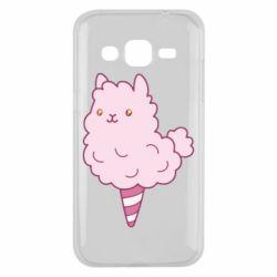 Чехол для Samsung J2 2015 Llama Ice Cream