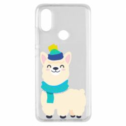 Чехол для Xiaomi Mi A2 Llama in a blue hat