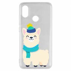 Чехол для Xiaomi Mi8 Llama in a blue hat