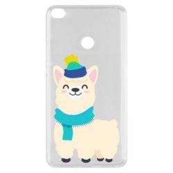 Чехол для Xiaomi Mi Max 2 Llama in a blue hat