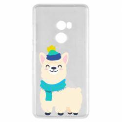 Чехол для Xiaomi Mi Mix 2 Llama in a blue hat